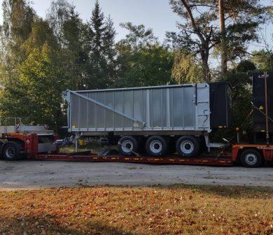 Tiefbett, Sattelauflieger, Schwertransporte Frankfurt mit ADW