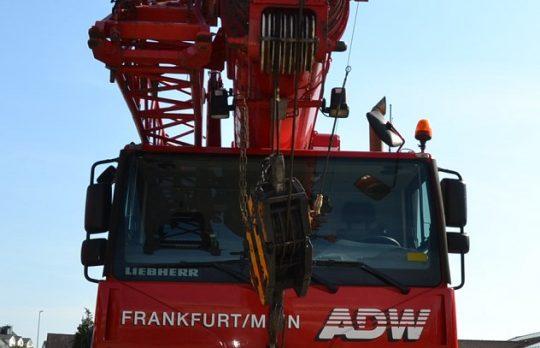 Kranvermietung, Kranunternehmen Frankfurt, Krandienst, ADW