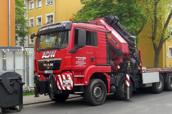 Ladekranvermietung Frankfurt, Kranlogistik von Autodienst-West Ganske
