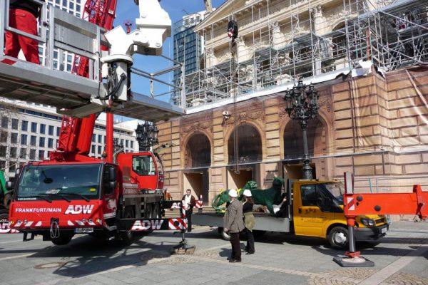 Kranvermietung mit Arbeitskorb, Höhenzugangstechnik ADW Frankfurt