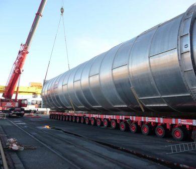 Schwertransporte, Schwerlastlogistik, Transporte ADW Krandienst