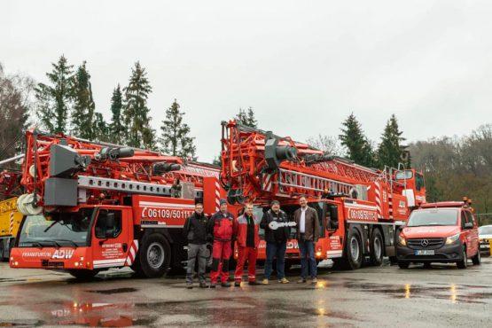 Zwei MK-Liebherr Krane neu im Fuhrpark ADW Frankfurt