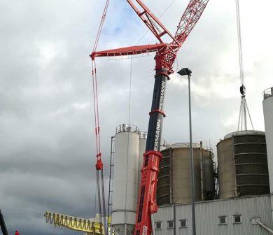LTM1500-Arbeiten im Hafen-Kranlogistik-Frankfurt