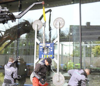 Montage-Fensterscheiben - Glassauger - Glasmontage -ADW