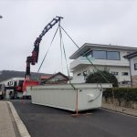 Pool setzen - Kronberg - Frankfurt- LKW-Ladekran mieten bei ADW