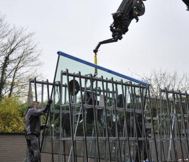 Glasmontagekran- Glasmontage - Fenstermontage - ADW Frankfurt