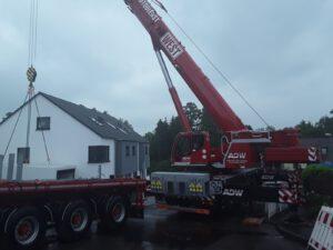 Container setzen - Transport und Kranarbeiten Frankfurt - ADW