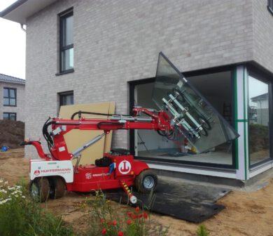 Außenverglasung - Glasmontage - Glasroboter mieten Frankfurt - SL 1008- ADW