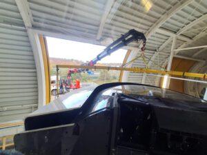 Ladekran mieten Frankfurt - Montage - Flugsimulator - ADW