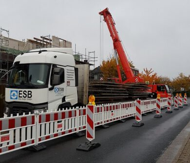 Verkehrssicherung - Absperrtechnik - Verkehrsservice Frankfurt ADW