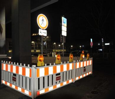Absperrung - Absperrtechnik - Baustellensicherung Frankfurt ADW