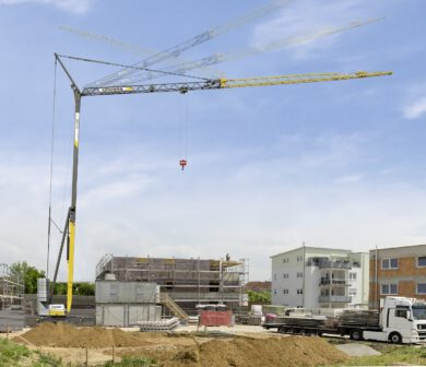 Turmdrehkran-Baukran - Kran Baustelle ADW