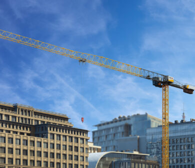 Baustellenkran - Turmdrehkran -Obendreher - ADW Krandienst Frankfurt