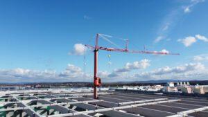 Mobilbaukran MK 140 im Logistikzentrum Erlensee - Kran mieten - ADW